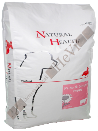 Natural Health Puppy Lam en Rijst 12,5 kg