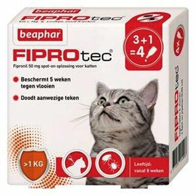 Beaphar FiproTec Kat 3+1 pipet