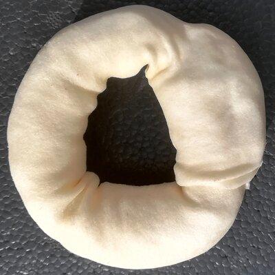 Kauwring Wit Buffelhuid ca. 8 cm