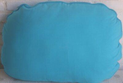 Kussen Ovaal Turquoise 70 cm