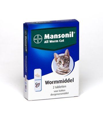 Bayer Mansonil All Worm Kat 2 tablet