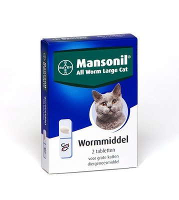 Bayer Mansonil All Worm Grote Kat 2 tablet