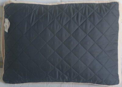 Kussen Zwart met Beige Rand 56x40x7 cm