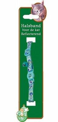 Kattenhalsband Nylon met Reflectie Blauw