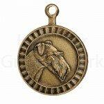 Bronzen Rashondenpenning Airedale Terriër