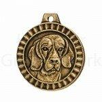 Bronzen Rashondenpenning Beagle