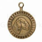 Bronzen Rashondenpenning Bedlington terriër