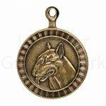 Bronzen Rashondenpenning Bull Terriër