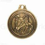 Bronzen Rashondenpenning Collie