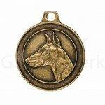 Bronzen Rashondenpenning Dobermann