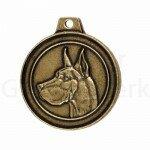 Bronzen Rashondenpenning Duitse Dog