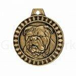 Bronzen Rashondenpenning Engelse Bulldog