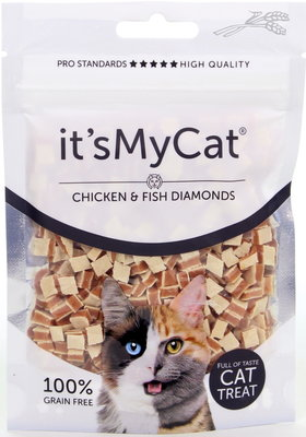 It's My Cat Chicken & Fish Diamonds 50 gram