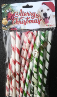 Kerst Wandelstok Twisted per 14 stuks