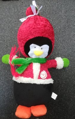 Kerstpinguin Pluche Met Piep