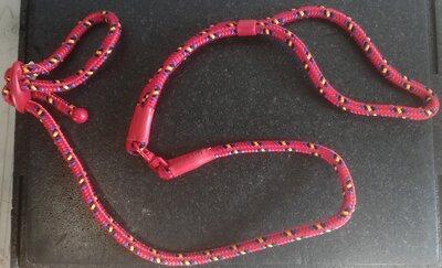Showlijn verstelbaar Rood 12 mm, 140 cm
