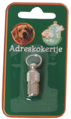 Adreskoker Chroom Hond, 26 mm